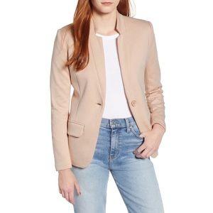 Gibson Light Pink Notch Collar Blazer